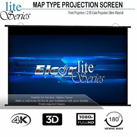 ELCOR Map Type screens 6ft x 4ft with 84 Diagonal In HD, 3D  4K Technology