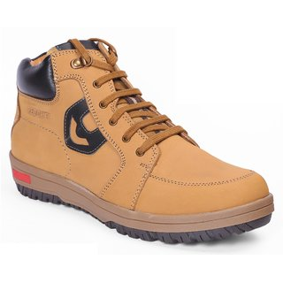 Red Chief Rust Men High Ankle Outdoor Casual Leather Shoes (RC3405 022)
