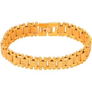 GoldNera Alloy Yellow Gold Bracelet for Men