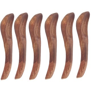 Wooden Soup Spoons - Pack of 6