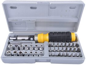 traders5253 Screwdriver Set 41 in 1 Non Metal Aluminium Repairing Tool Kit