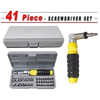 Screwdrivers Set 41 in 1 Non Metal Aluminium Repairing Tool Kit by Traders5253