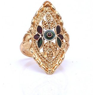 Gold Plated Wedding Wear Bridal Ring by GoldNera