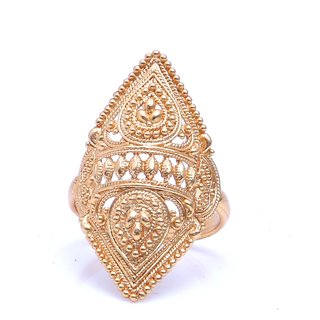 Gold Plated Intricately Designed Adjustable Ring by GoldNera