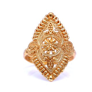 Gold Plated Adjustabele Pretty Designer Bridal Ring by GoldNera