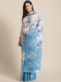 SVB Saree Taffeta Printed Saree Without Blouse Piece