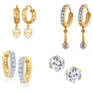 Goldnera Beautiful Looking Stud Earrings Combo With Traditional Bali Earrings Bollywood Stylei For Girls/Kids/Women