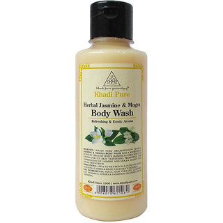 Khadi Pure Herbal Jasmine  Mogra Body Wash - 210ml