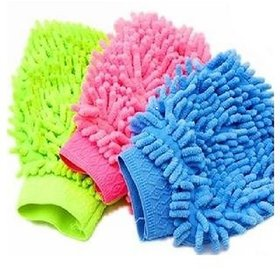 love4ride Set Of 2 Cleaning Glove-Microfibre Gloves