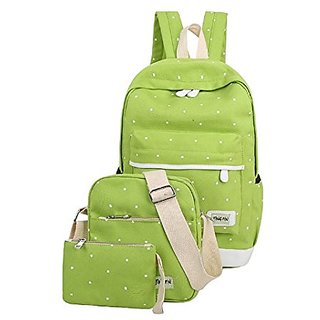 785193dfb0 Buy Aeoss Women School Bag College Wind Women s Backpack Canvas Fashion Bag  Set of 3 Bag Online - Get 18% Off