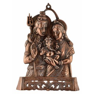 Satya Vipal Brown Metal Shiv Parivar God Idol ( 7 x 2 x 11 cm) - Set Of 1