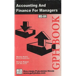 MS04 Accounting And Finance For Managers  (IGNOU Help book for MS-04 in English