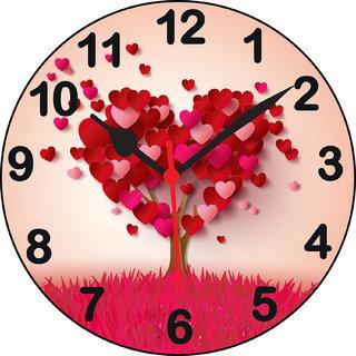 3d designer heart5 wall clock