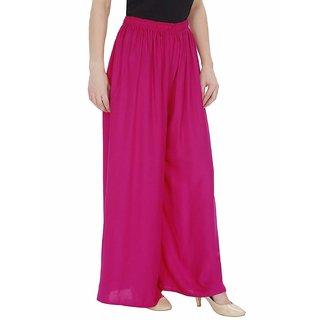 @rk-RK-New Fashion Women Casual light Pink Palazzo Pants ,Plazzo Trousers