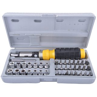 traders5253 Screwdriver Set 41 in 1 Non Metal Aluminium Repairing Tool Kit