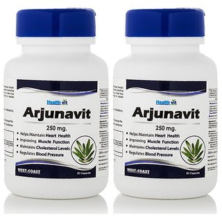 Healthvit Arjunavit Arjuna Powder 250mg Supplement (60 Capsules)