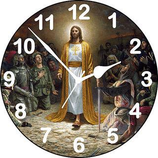 3d jesus 5 wall clock