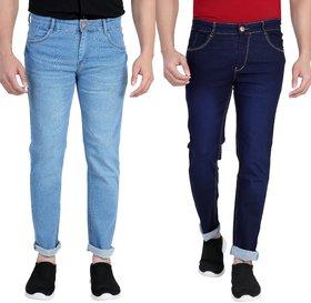 Ragzo Men's Regular Fit Multicolor Jeans