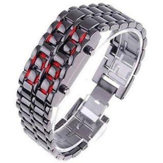 True Colors Casual Digital Metal Quartz Men's Watch With Seller Warranty Of 6 Months (Silver & Black)