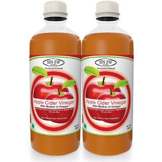 Sinew Apple Cider Vinegar With Mother of Vinegar- 500 ml, Pack of 2