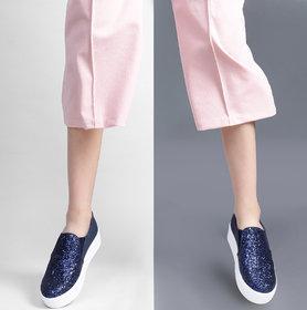 Estatos Blue, Gloden Platform Shoes