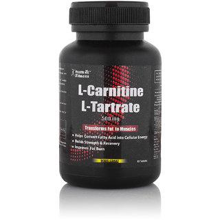 Healthvit L-Carnitine L-Tartrate 500MG (Amino Acid For Muscle,Heart  Brain) 60 Tablets