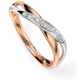 RM Jewellers CZ 92.5 Sterling Silver American Diamond Pretty Princess Ring For Women