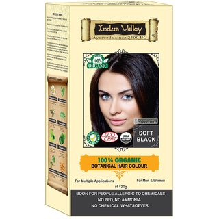 Indus valley Organic hair color- Soft Black