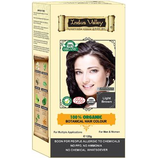 Indus valley Chemical Free Hair color- Light Brown