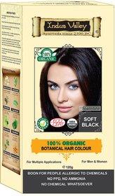 Indus valley Halal Organic Hair Color- Soft Black