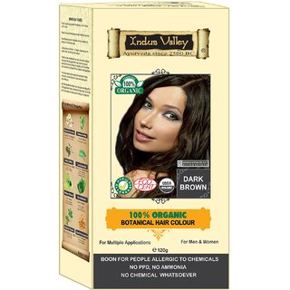 Indus valley Halal Organic Hair Color- Dark Brown