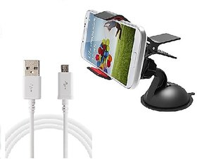 love4ride Evergreen Universal Single Clamp Mobile Holder With USB Charging Cable