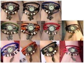 New Rocking Vintage Bracelet Watch For Ladies With Genuine Leather Strap Co
