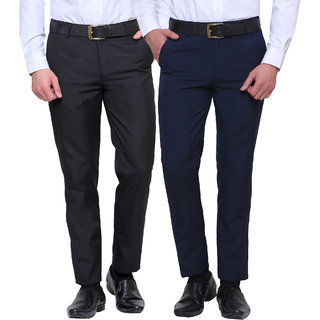Inspire Combo Of Black  Blue Formal Trousers
