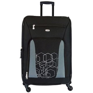 Timus Morocco Spinner Black 75 CM 4 Wheel Strolley Suitcase For Travel Check-in Luggage - 28 inch