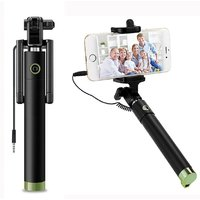 PRODUCTMINE Selfie Stick-mini with Aux cable for Iphone 4,5,6 , Android, window phone, No bluetooth, No charging require