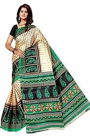 Svb Taffeta Silk Block Print Saree Without Blouse