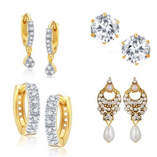 GoldNera Gold Plated Jewellery Combo for Women And Girls