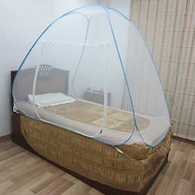 Healthgenie Blue Mosquito Net Single Bed foldable