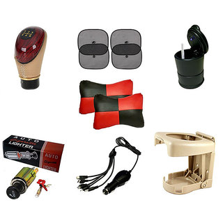 Combo Of 7 In 1 Car Comfort Interior Accessories
