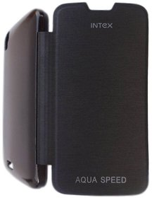 Premium Grade Flip Cover Hard Back Case For Intex Aqua Speed HD