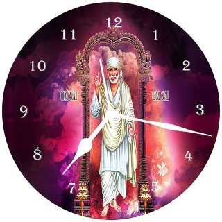3d brown sai baba5 wall clock