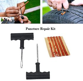 Tubeless Tyre Puncture Kit With Glue (Set of 1)