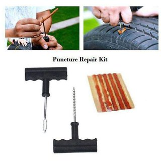 Universal Tubeless Tyre Puncture Kit With Glue (Set of 1)
