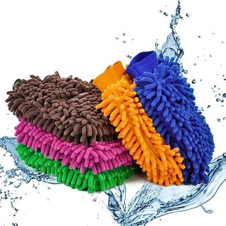Microfiber Cleaning Gloves/Hand Duster By traders5253