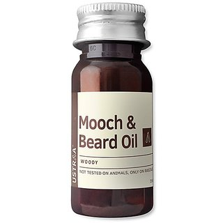 Ustraa By Happily Unmarried Woody Mooch and Beard Oil - 35ml (Set of 1)