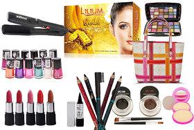 Laser Beauty Combo Makeup Sets With Straightener Cum Curler