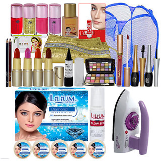 Explore Beauty Combo Makeup Sets With 250g Diamond Facial Kit Iron