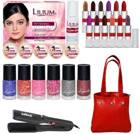 Popular Combo Makeup Sets With Instaglow Facial Kit  Straightener