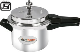 Brightflame 3 Ltr Popular Aluminium Pressure Cooker (ISI Marked)
